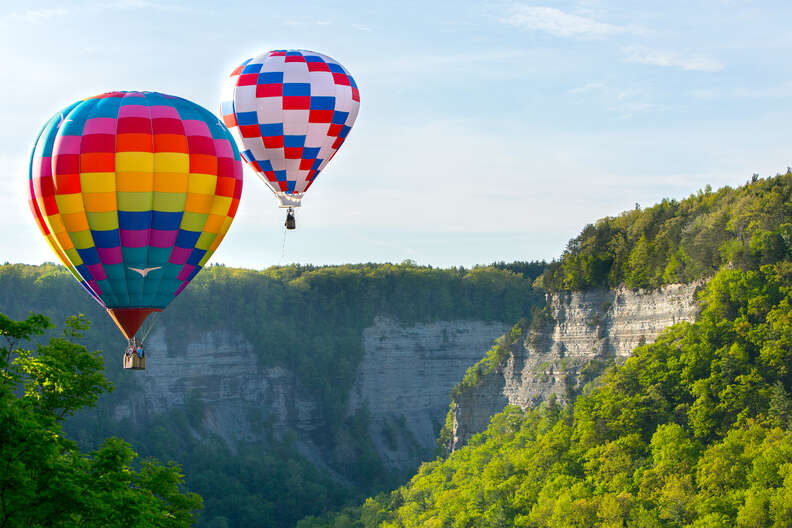 Letchworth State Park, hot air balloons