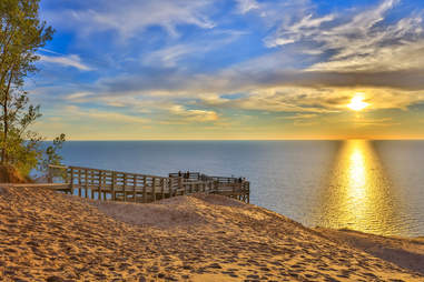 Lake Michigan Overlook at the Sleeping Bear Dunes