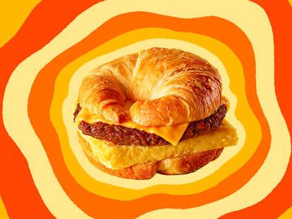 A Burger King Croissan'wich