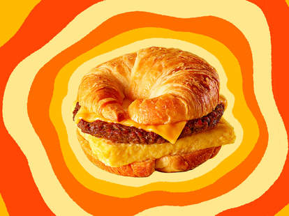 A Burger King Croissan'wich