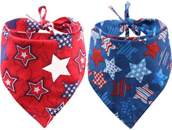 pet bandanas 4th of july