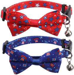 cat collars 4th of july