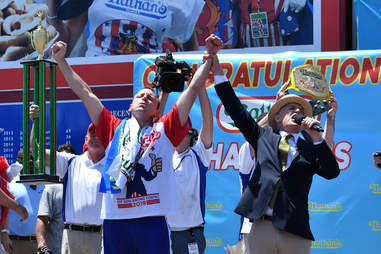 joey chestnut wins the nathan's hot dog eating contest major league mle 2019
