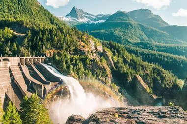 Diablo dam on Skagit river