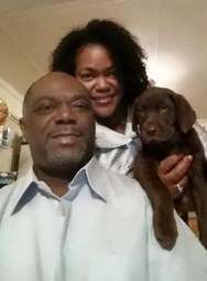 Linda Harmon and her puppy Twixx
