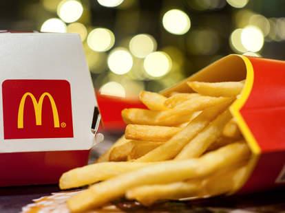 mcdonald's free fries