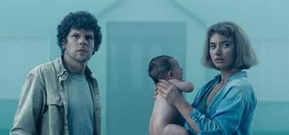 vivarium movie jesse eisenberg imogen poots baby
