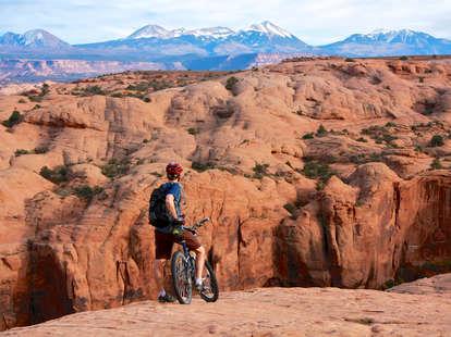 Slickrock mountain bike trail in Moab, Utah