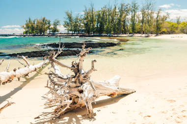 Makalawena Beach in Puu AliI Bay
