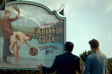 Welcome to Schitt's Creek sign