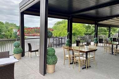 Diamond Mills Hotel & Tavern back patio