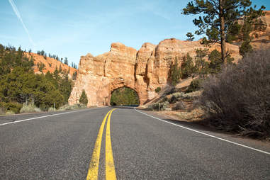 Highway arch, Red Canyon, Utah