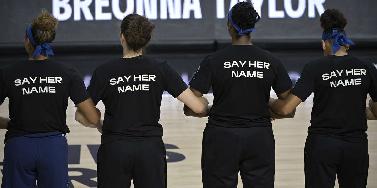 WNBA Players Walk Off Court During National Anthem, Dedicate Season To Breonna Taylor