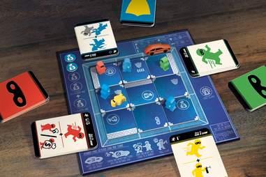 How to Rob a Bank board game setup