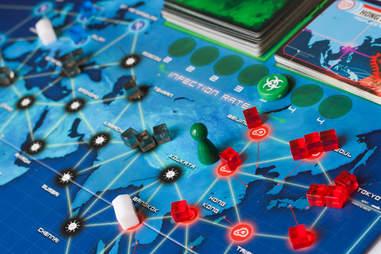 Pandemic board game map