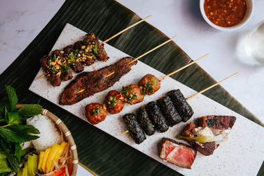 vietnamese barbecue bbq madame vo skewers meat new york city