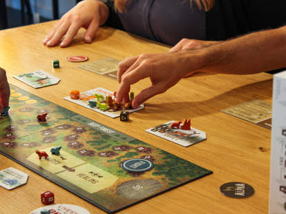 The Alpha board game setup