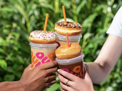 dunkin' free donut friday free coffee monday