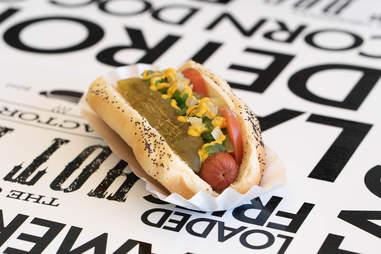Original Hot Dog Factory food