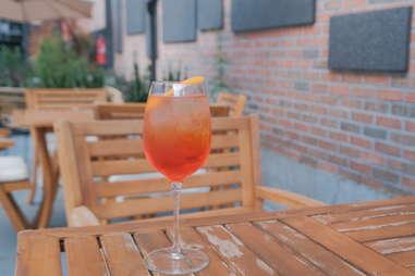 Ten Hope Outdoor Garden's Aperol spritz