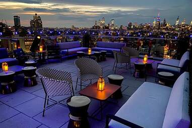 the crown outdoor rooftop at 50 bowery