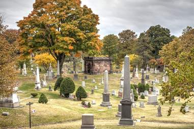 Green-Wood Cemetery in the fall