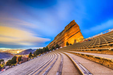Red Rocks Amphitheater in Denver, Colorado area