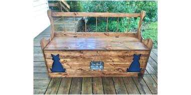 Reclaimed Wood Litter Box