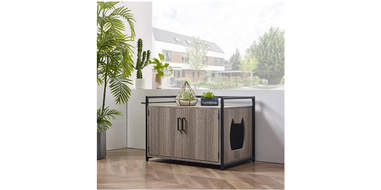 Wood Enclosed Litter Box Enclosure