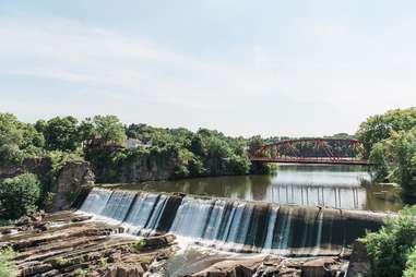 bridge and waterfall in Saugerties