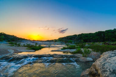 Sunset at Pedernales State Park near Johnson City, Texas