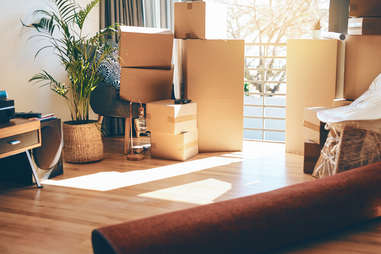 packing boxes during move