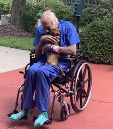 Dog reunites with owner after saving his life