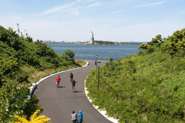Biking through The Hills on Governors Island