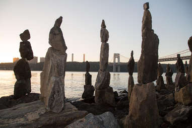 Sisyphus Stones at Fort Washington Park in Manhattan