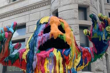 """Tony Tasset's """"Blob Monster"""" sculpture in Milwaukee"""