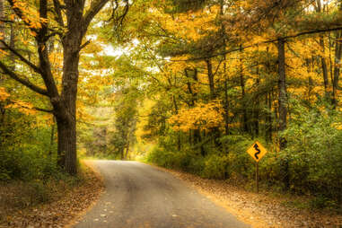 Kettle Moraine scenic road in the fall