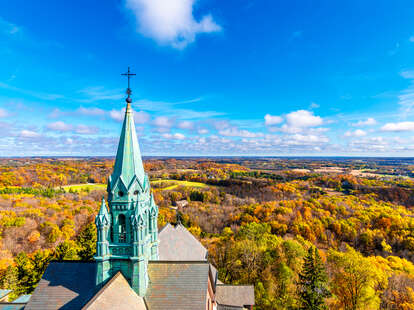 Holy Hill in Wisconsin in the fall