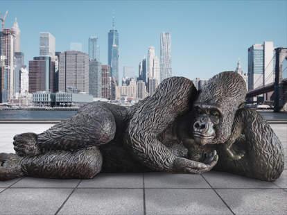 King Nyani gorilla sculpture