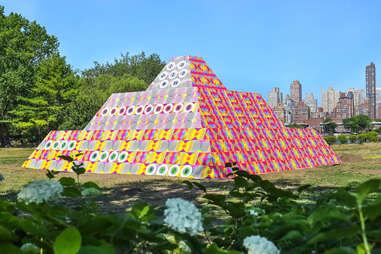 Jeffrey Gibson exhibit at Socrates Sculpture Park