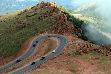 Hairpin curve on Pikes Peak Highway