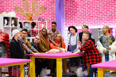 The cast of Canada's Drag Race Season 1 in the Werk Room