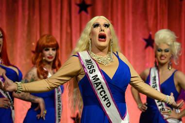 Rita Baga in the Canada's Drag Race pageant