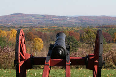 Saratoga Springs, New York battlefield in the fall