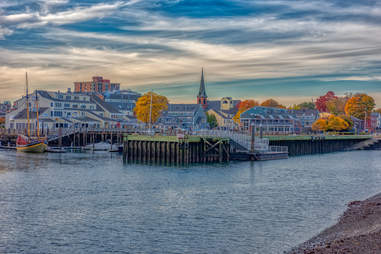 Salem, Massachusetts in the fall