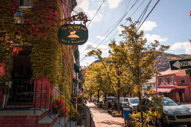 Cold Spring, New York in the fall