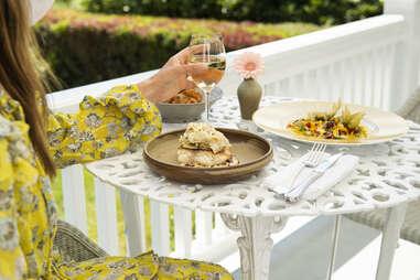 The Mayflower Inn & Spa outdoor dining