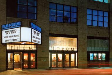 Film Forum exterior in the West Village, NYC
