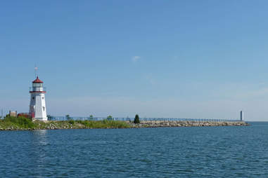 Lighthouse in Cheboygan, Michigan
