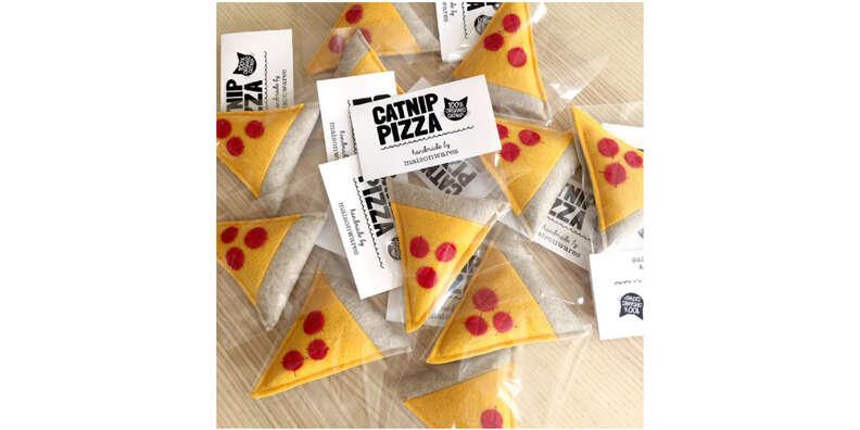Pizza Slice Catnip Cat Toy